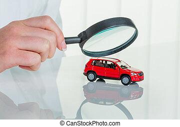 coche, comprobado, doctor