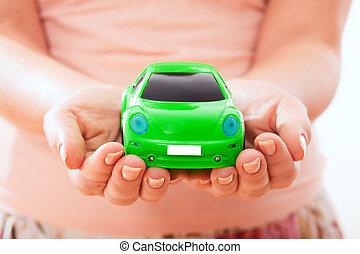 coche, concepto, protección