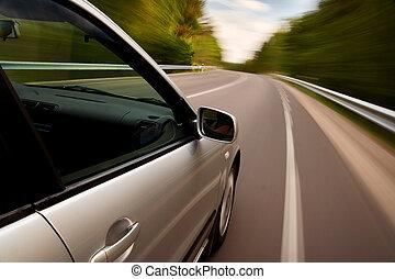 coche, conducir rápido
