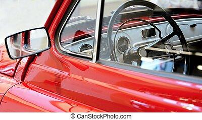 coche de la vendimia, visión interior