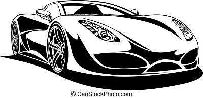 coche, deporte, original, mi, diseño