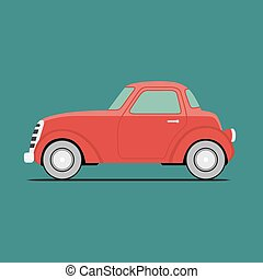 coche, deporte, rojo