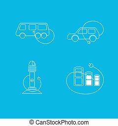 coche eléctrico, logotipo