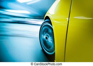 coche, exceso de velocidad