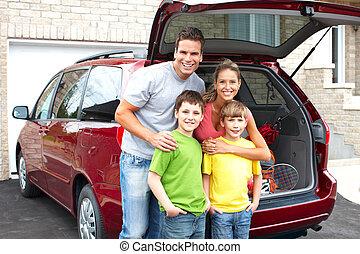 coche, familia