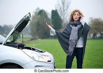 coche, frustración