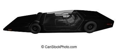 coche, futuro, prototipo