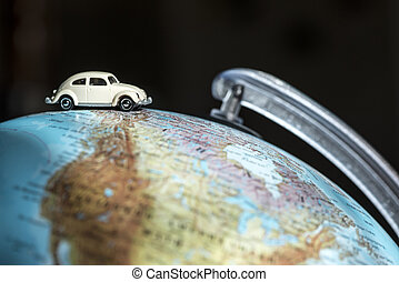 coche, globo