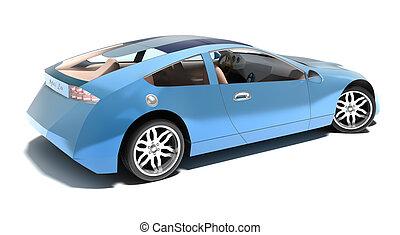 coche, híbrido, contemporáneo, deportes
