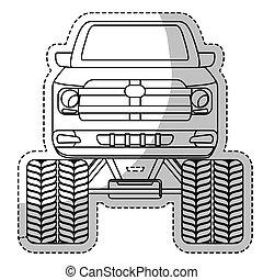 coche, icono, imagen