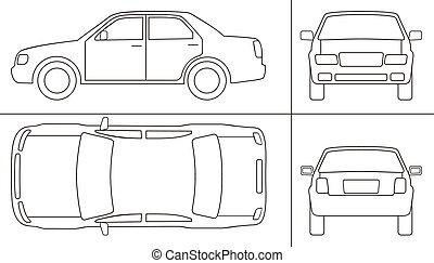 coche, keyline
