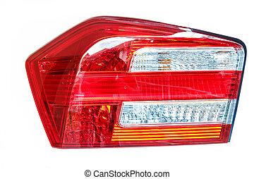 coche, light., espalda