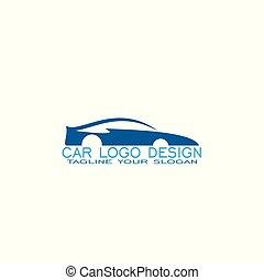 coche, logotipo, diseño