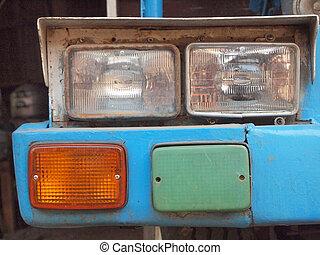 coche, luces