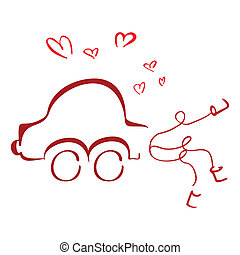 coche, luna de miel