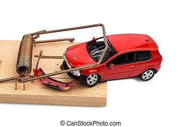 coche, modelo, ratonera