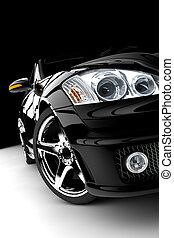 coche, negro