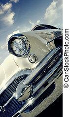 coche, norteamericano, clásico, -, retro