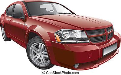 coche, norteamericano, mid-size