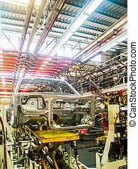 coche, planta de fabricación