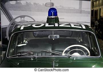coche, policía