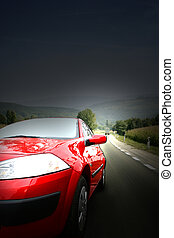coche, rojo