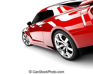coche rojo