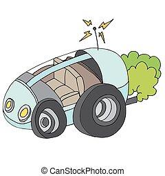 coche, sí mismo, conducción, icono