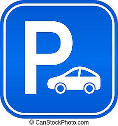 coche, señal de estacionamiento