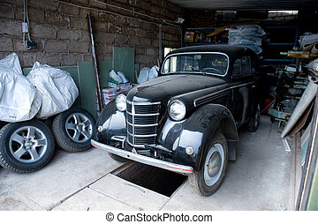 coche, soviético, retro