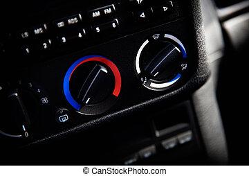 coche, temperatura, controles