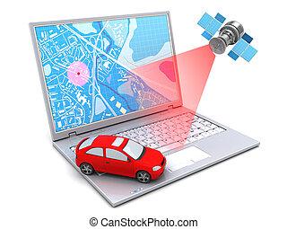 coche, ubicación