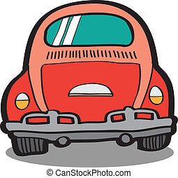 coche, vector, caricatura