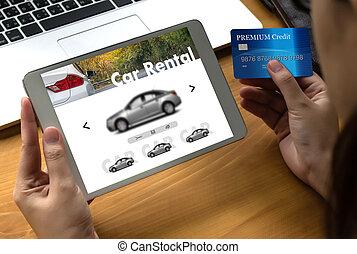 coche, vehículos, transporte, vendedor, automóvil, alquileres, alquiler