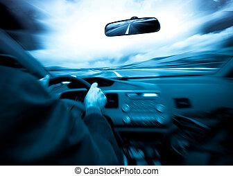 coche, velocidad