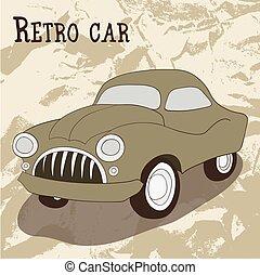 coche, vendimia, retro, colección