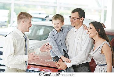 coche, venta, o, automóvil, compra
