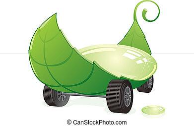 coche, verde