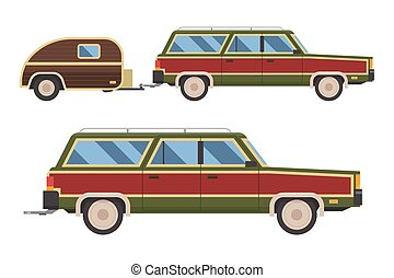 coche, viaje, carruaje, retro