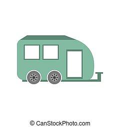 coche, viaje, remolque, transporte, caravana