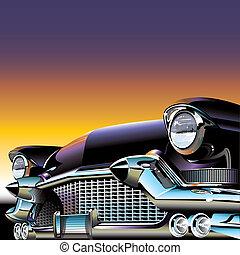 coche, viejo, clásico