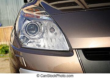 coche, -, vista delantera