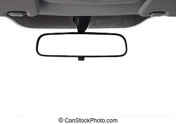 coche, vista, espejo de parte trasera