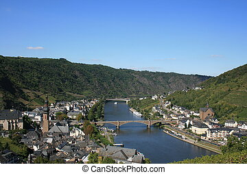 Cochem - Overlooking Cochem Germany and the Moselle River.