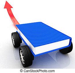 coches, concepto, conocimiento, carrera, mundo
