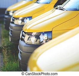 coches, en venta, o, servicio, concepto