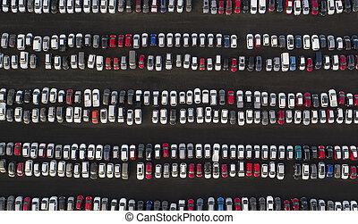 coches, estacionado