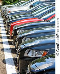 coches, fila