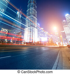 coches, mudanza, rápido, noche