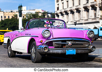 coches, norteamericano, histórico,  Cuba